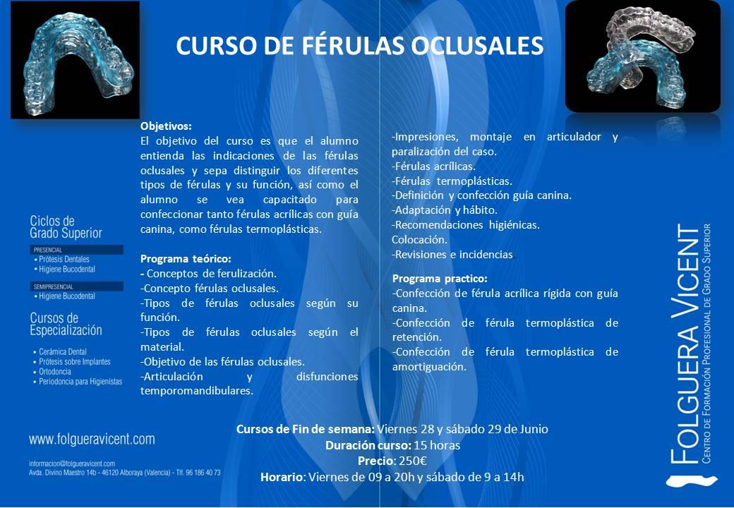 Curso de Férulas Oclusales - Folguera-Vicent