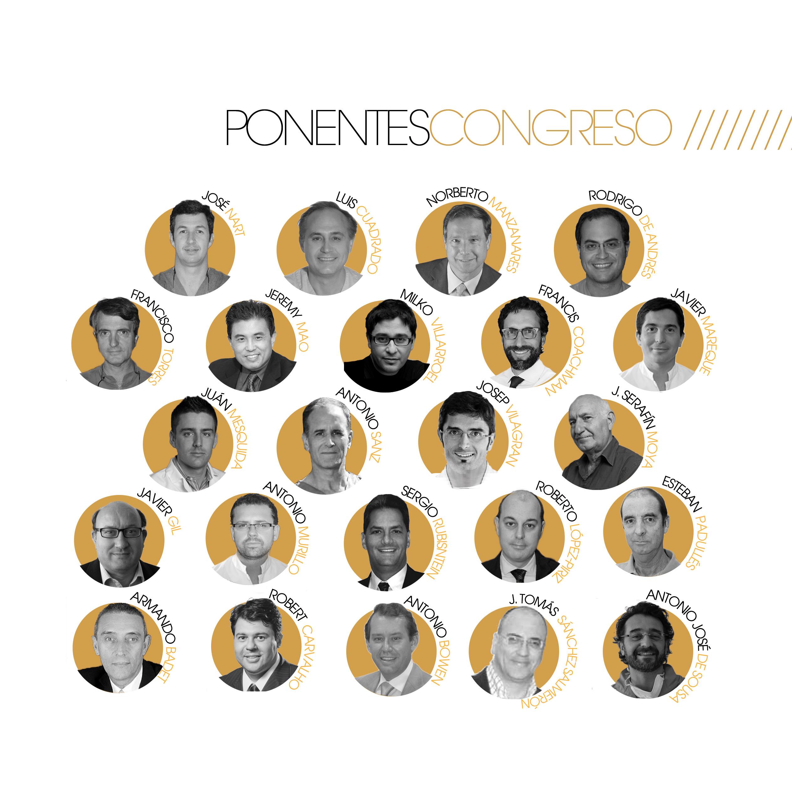 Ponentes XXVII Congreso Nacional & XX Congreso Internacional Sociedad Española de Implantes SEI 2014