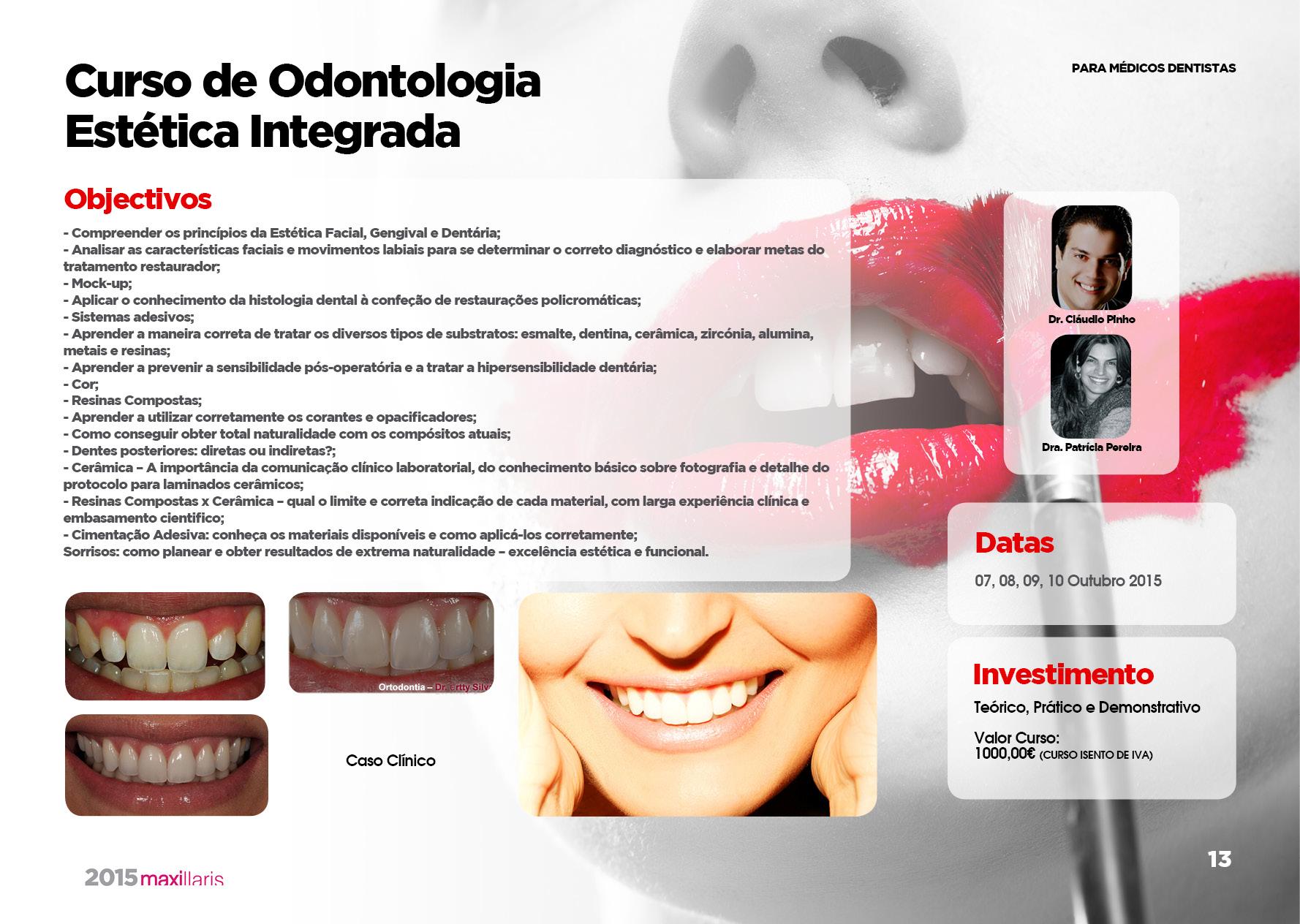 Curso de Odontologia Estética Integrada - Maxillaris