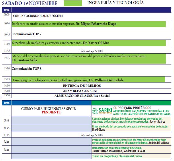 Programa Cientifico 19 Noviembre XIV SECIB