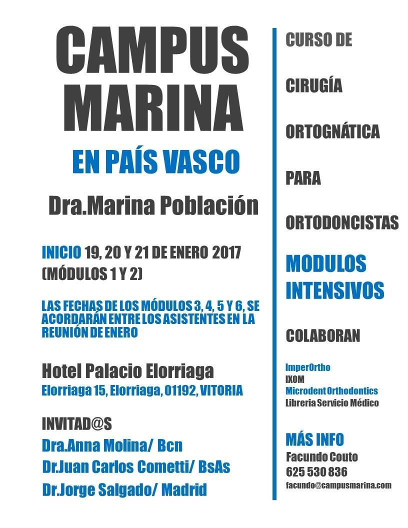 Curso de Cirugía Ortognática para ortodoncistas - Campus Marina en País Vasco - Dra. Marina Población