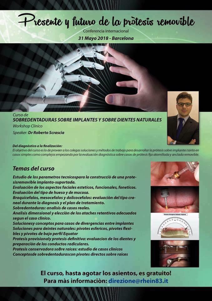 Curso Sobredentaduras  sobre implantes y  sobre dientes Naturales - Rhein