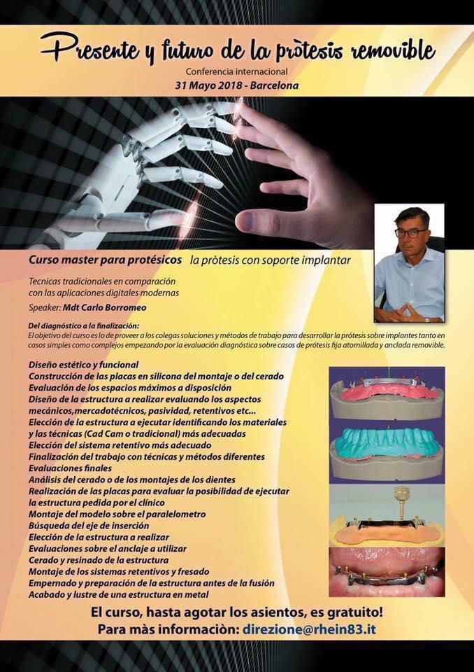 Curso máster para prótesicos - La prótesis con soporte implantar - Rhein